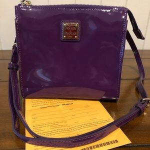 NWOT Dooney Janine North South Crossbody Purple